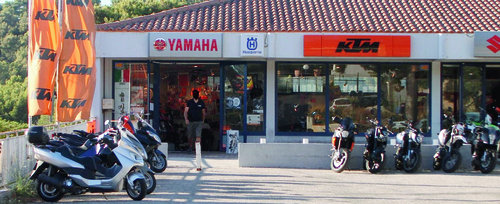 Le magasin de motos